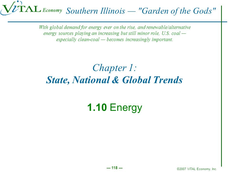 Chapter 1: State, National & Global Trends