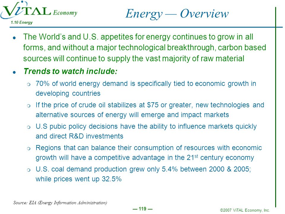 Energy — Overview 1.10 Energy.