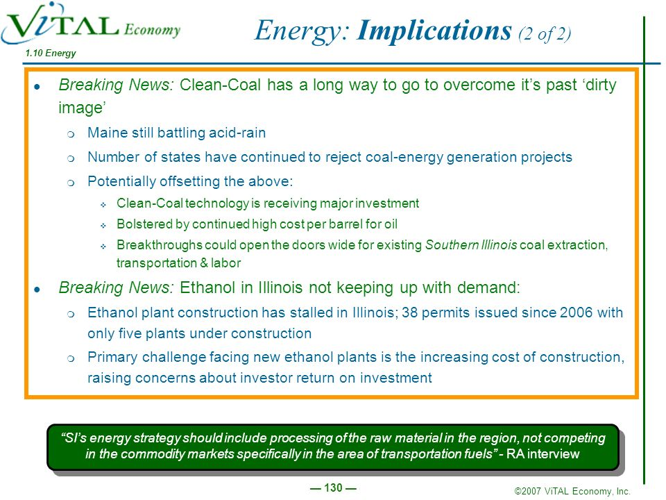 Energy: Implications (2 of 2)