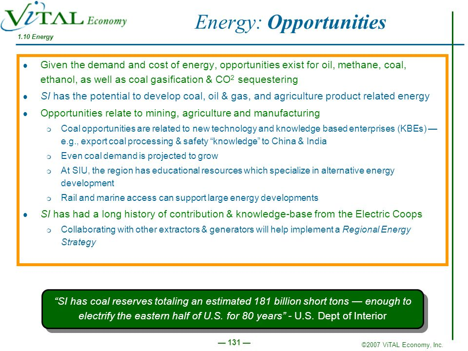 Energy: Opportunities