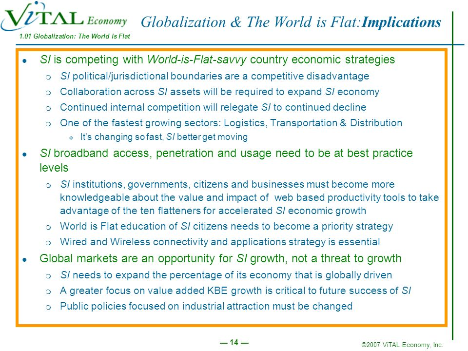 Globalization & The World is Flat:Implications