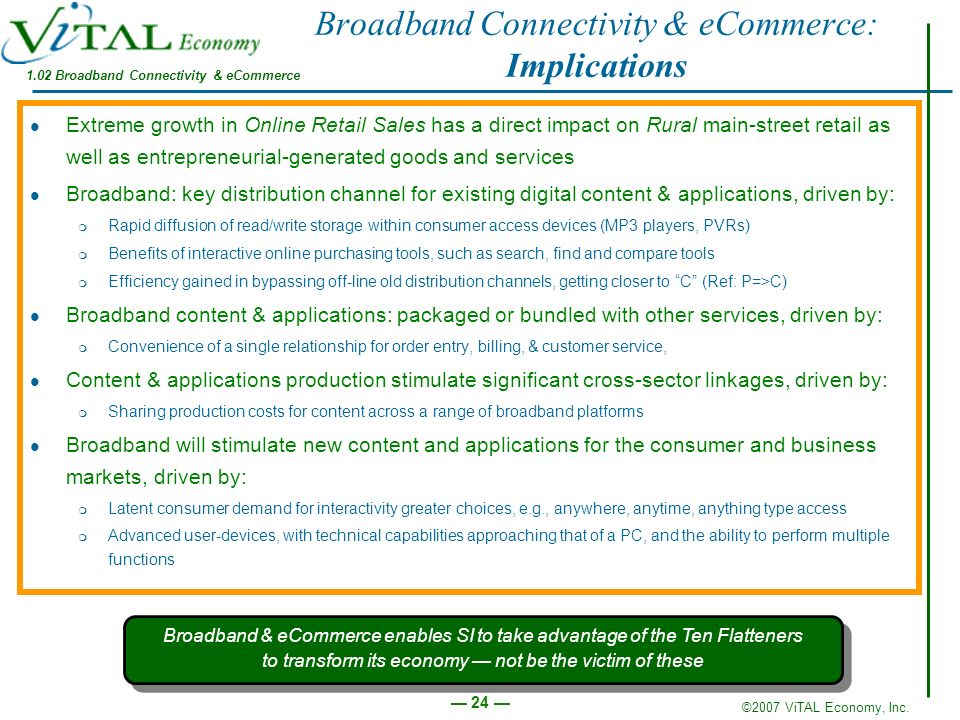 Broadband Connectivity & eCommerce: Implications