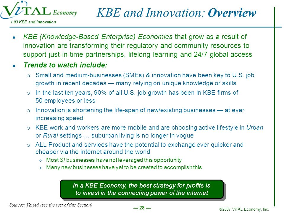 KBE and Innovation: Overview