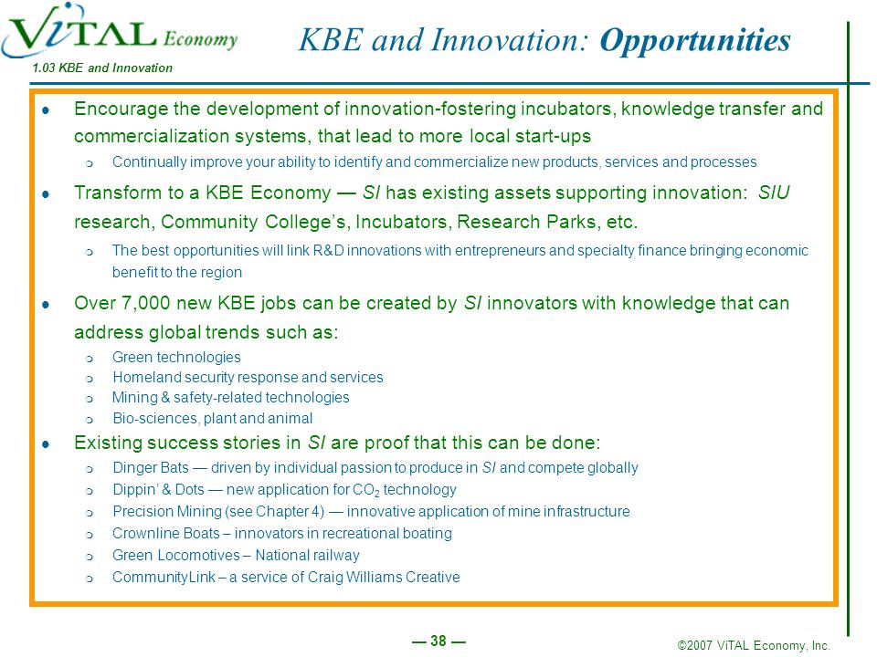 KBE and Innovation: Opportunities