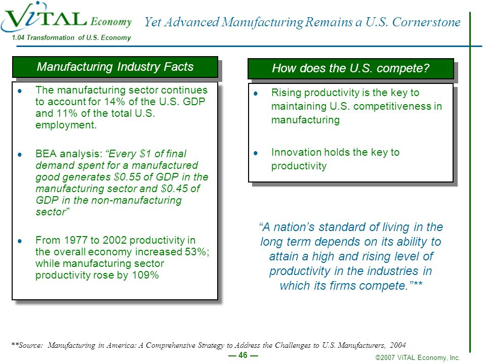 Yet Advanced Manufacturing Remains a U.S. Cornerstone
