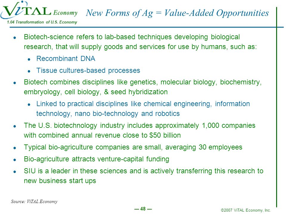 New Forms of Ag = Value-Added Opportunities