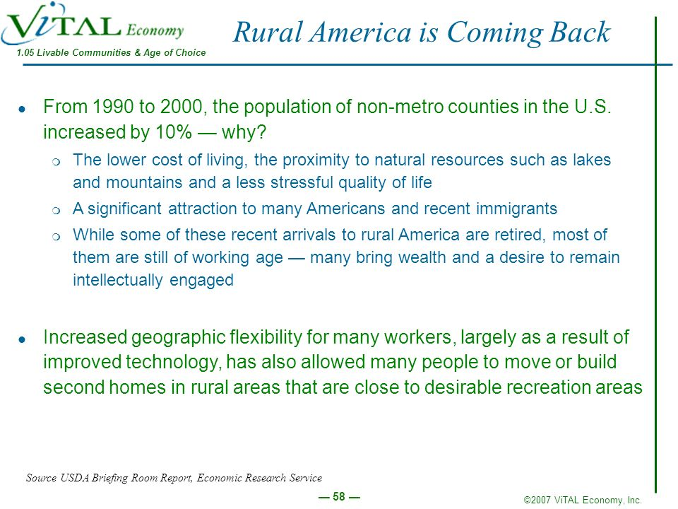 Rural America is Coming Back