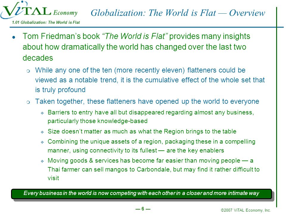 Globalization: The World is Flat — Overview