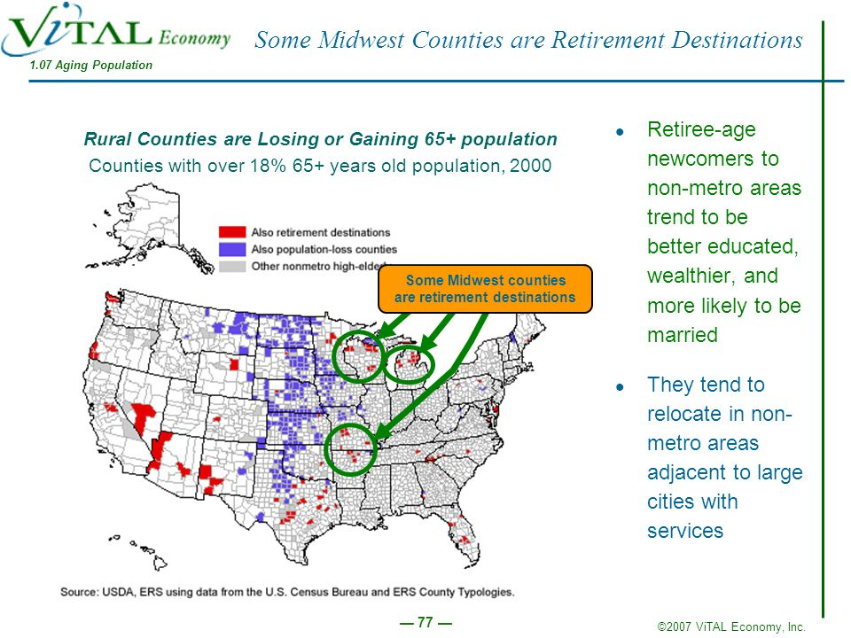 Some Midwest Counties are Retirement Destinations