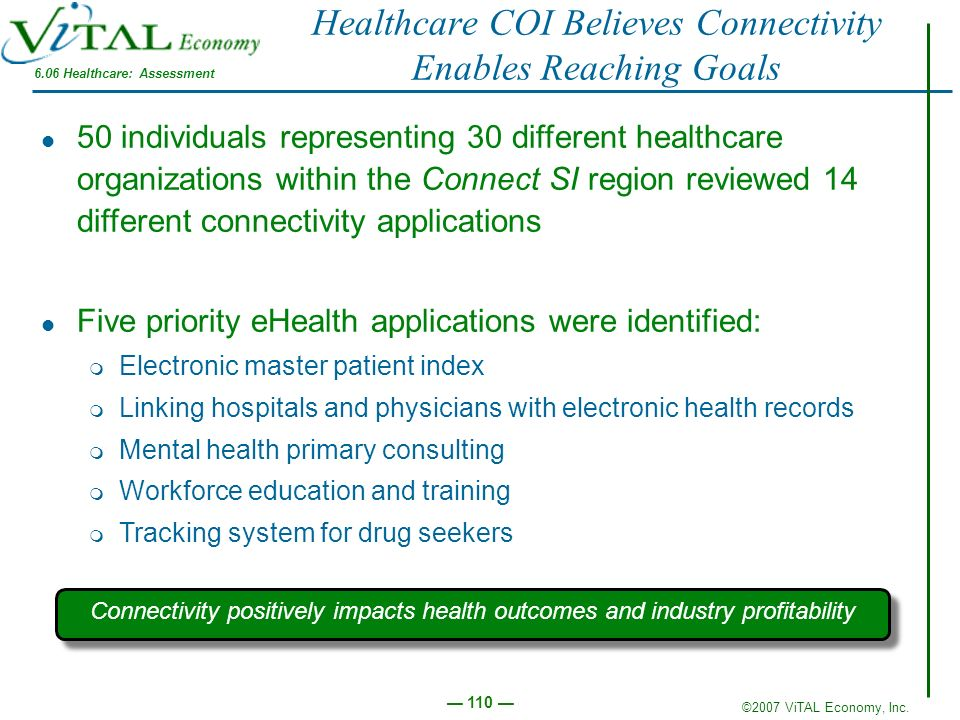 Healthcare COI Believes Connectivity Enables Reaching Goals