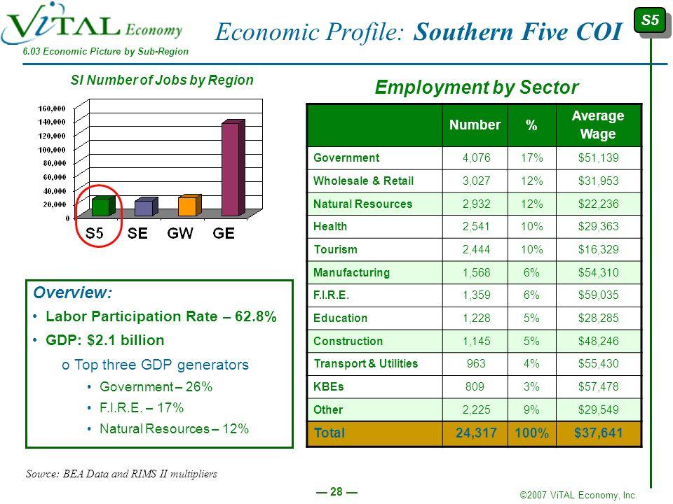 Economic Profile: Southern Five COI