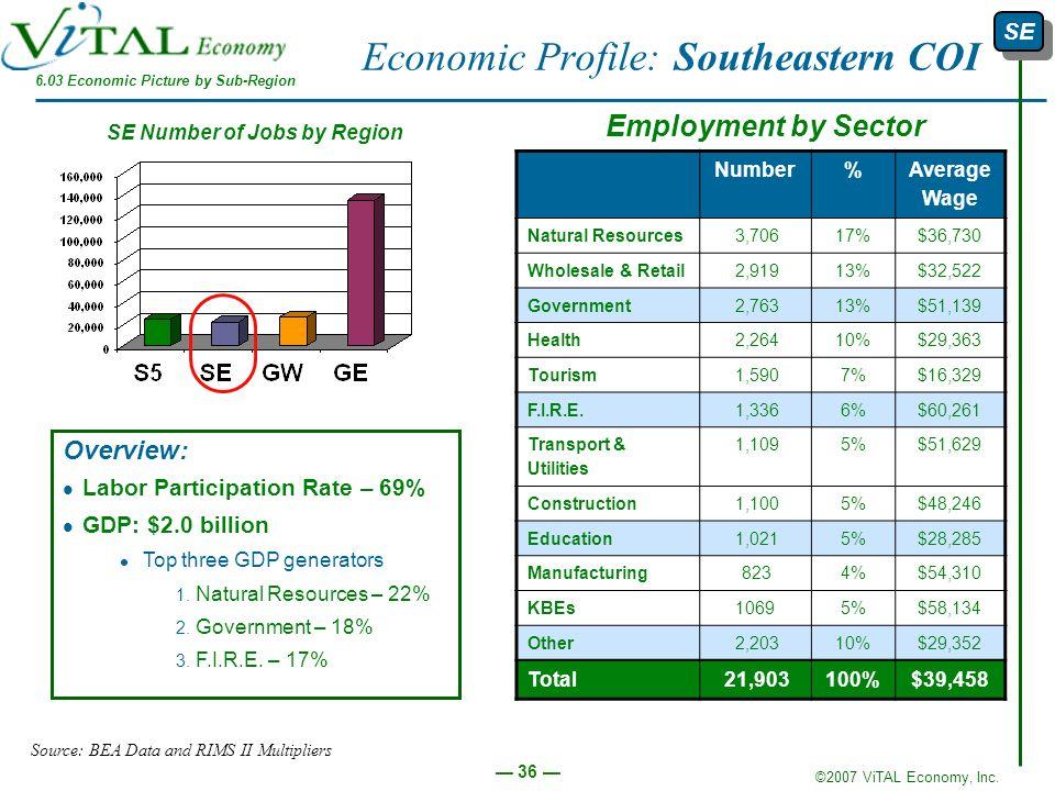 Economic Profile: Southeastern COI