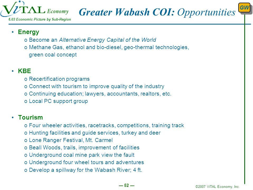 Greater Wabash COI: Opportunities