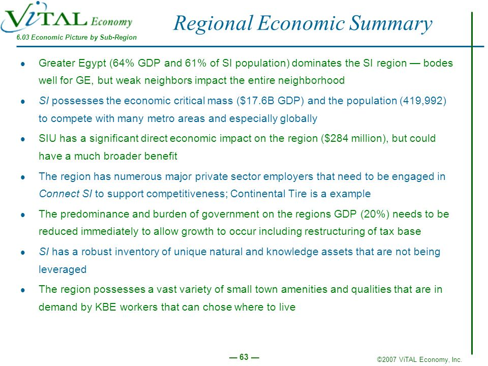 Regional Economic Summary