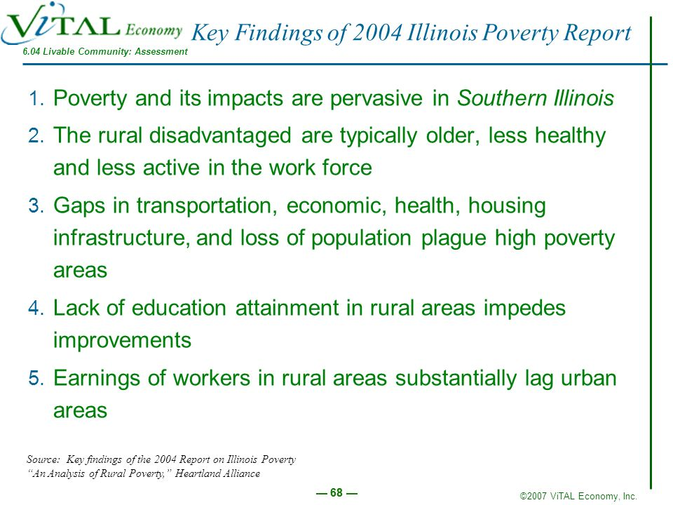 Key Findings of 2004 Illinois Poverty Report