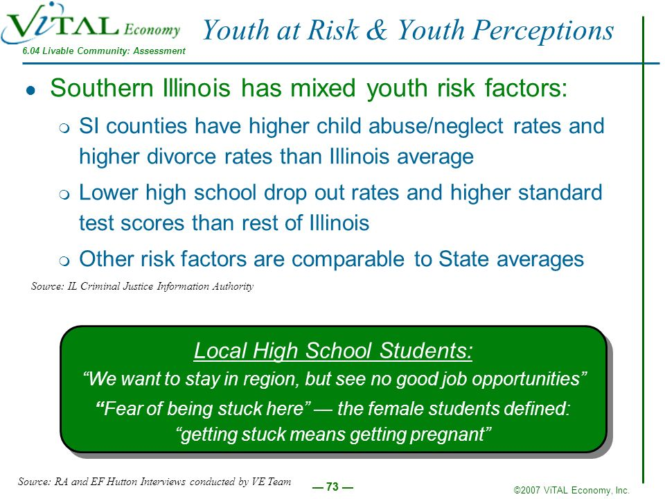 Youth at Risk & Youth Perceptions