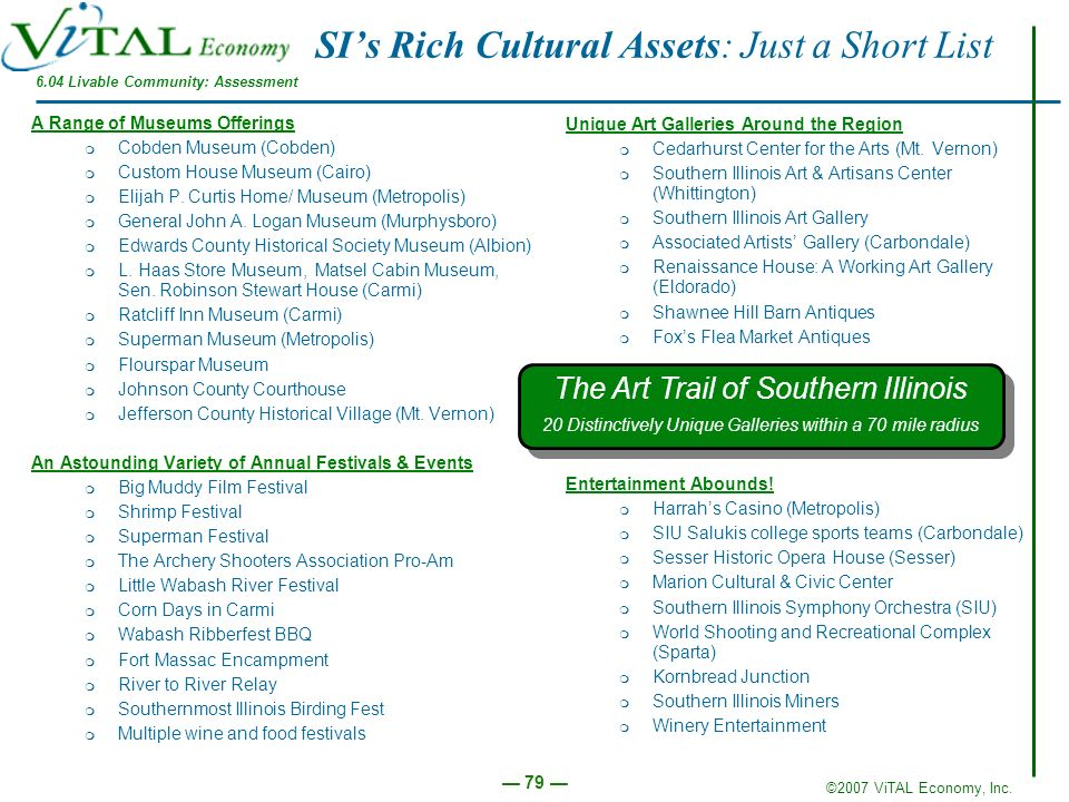 SI's Rich Cultural Assets: Just a Short List