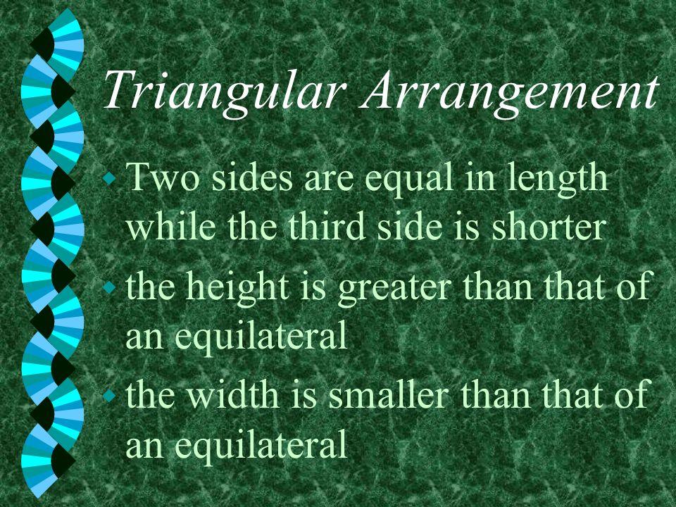 Triangular Arrangement