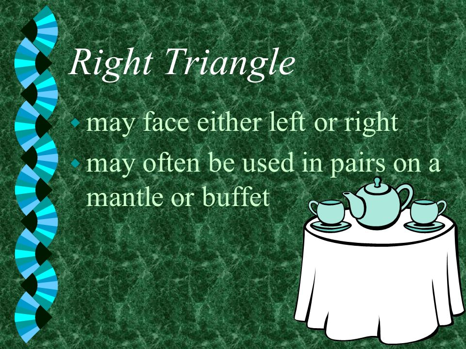 Right Triangle may face either left or right