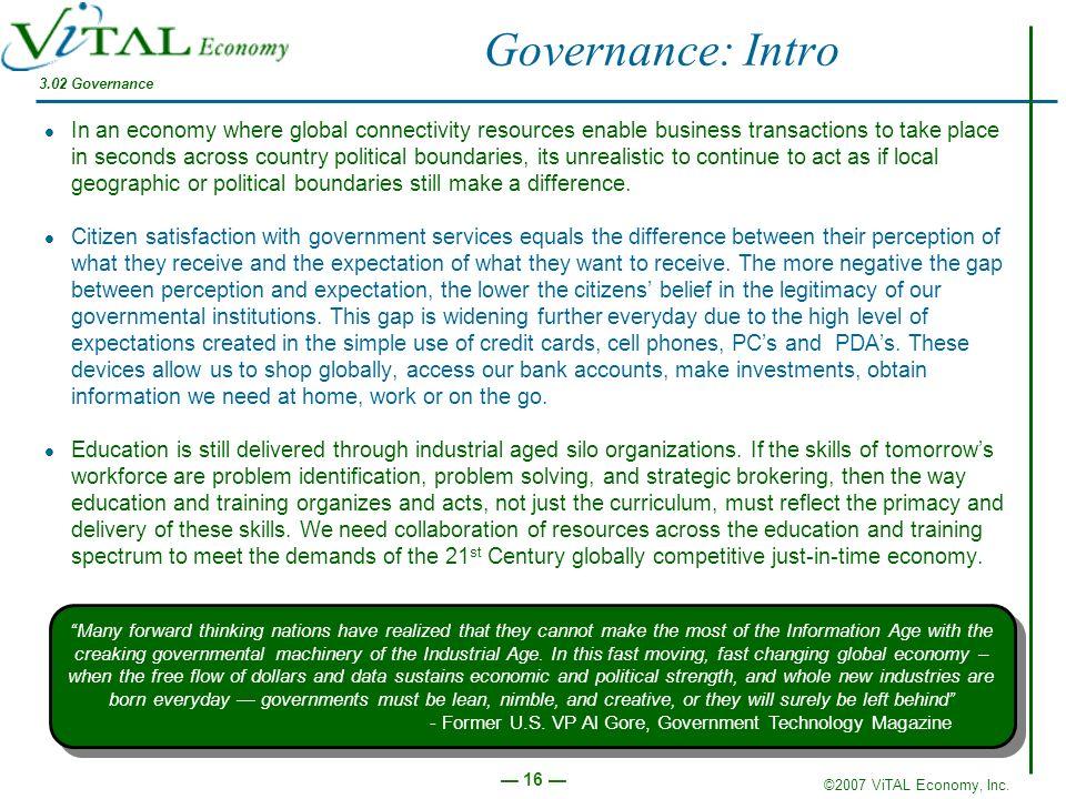 Governance: Intro 3.02 Governance.