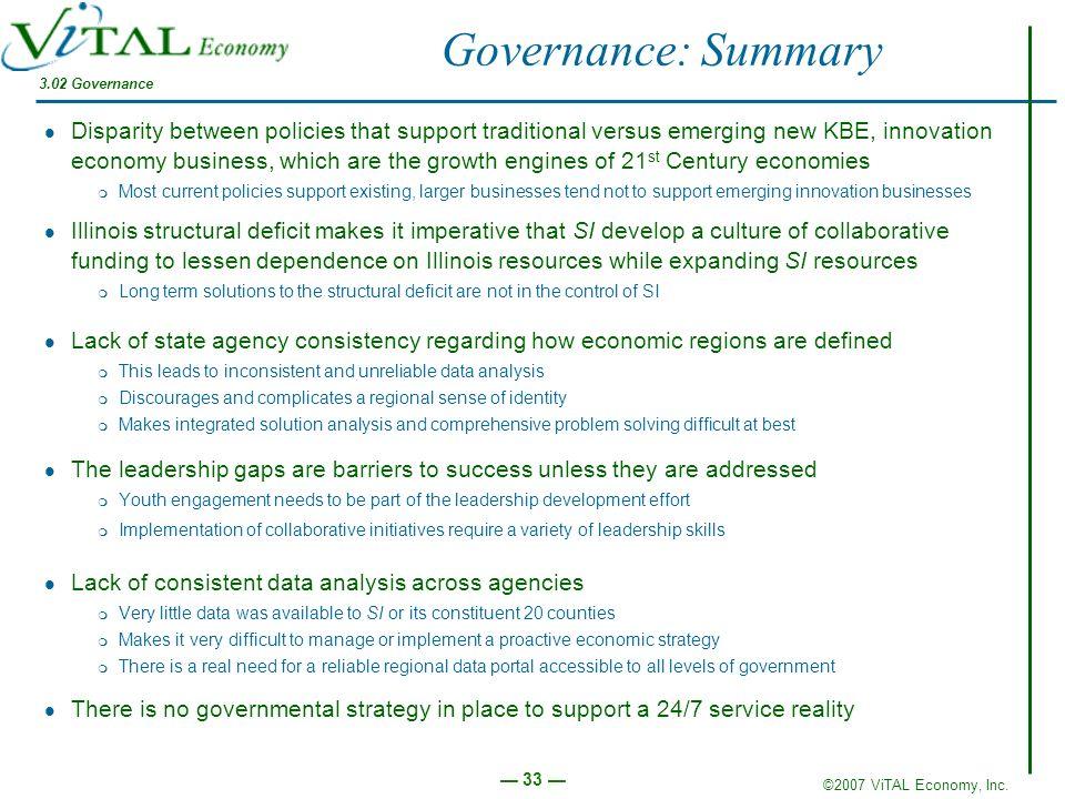 Governance: Summary 3.02 Governance.