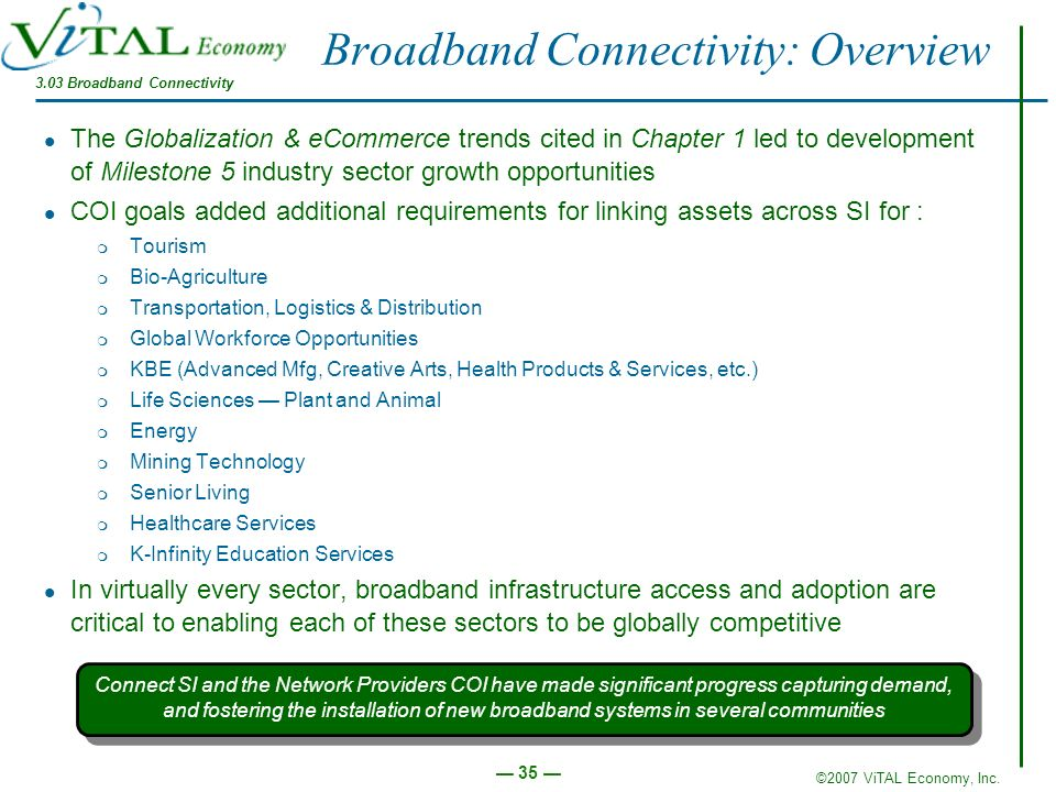 Broadband Connectivity: Overview