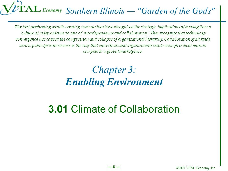 Chapter 3: Enabling Environment