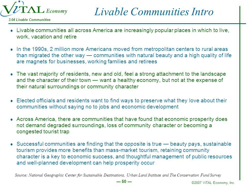 Livable Communities Intro