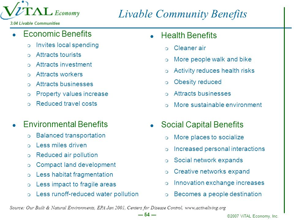 Livable Community Benefits