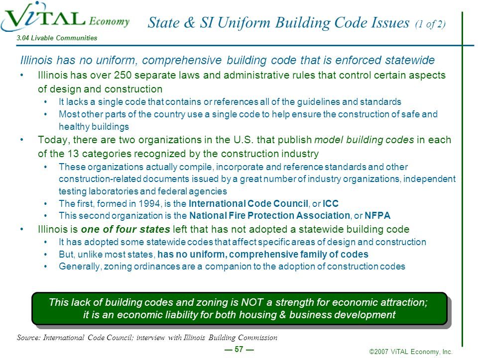 State & SI Uniform Building Code Issues (1 of 2)