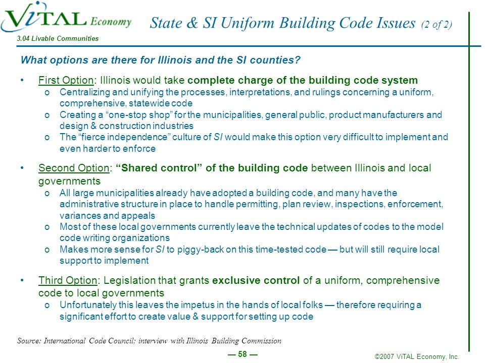 State & SI Uniform Building Code Issues (2 of 2)