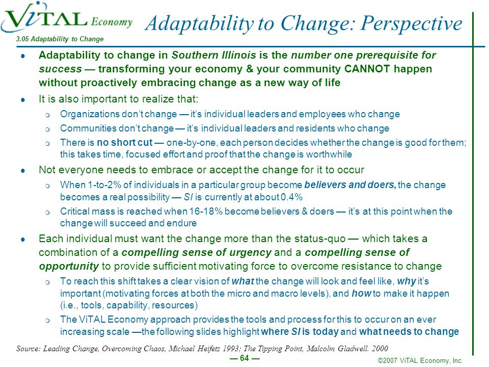 Adaptability to Change: Perspective
