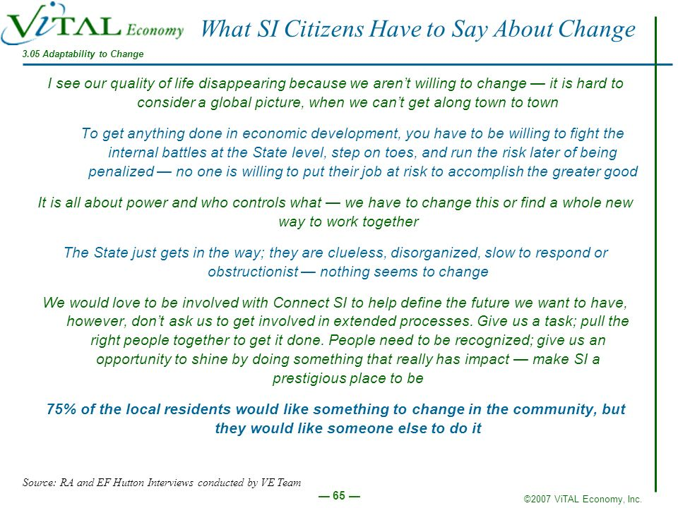 What SI Citizens Have to Say About Change
