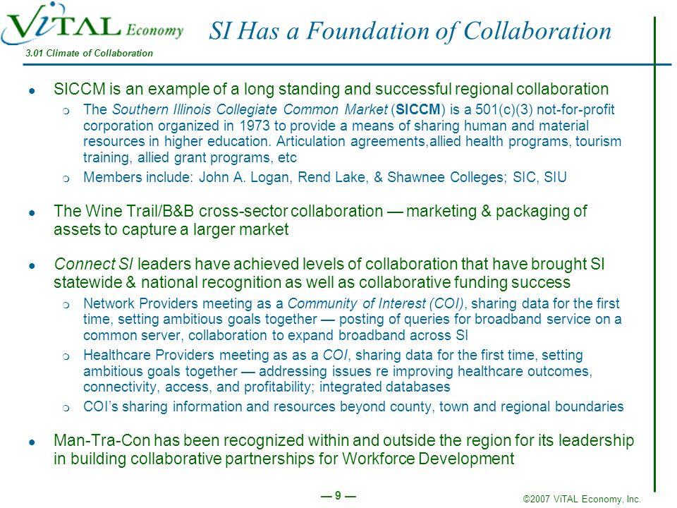 SI Has a Foundation of Collaboration