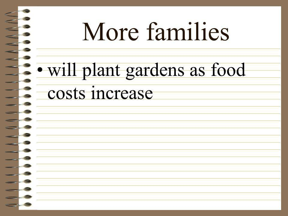 More families will plant gardens as food costs increase
