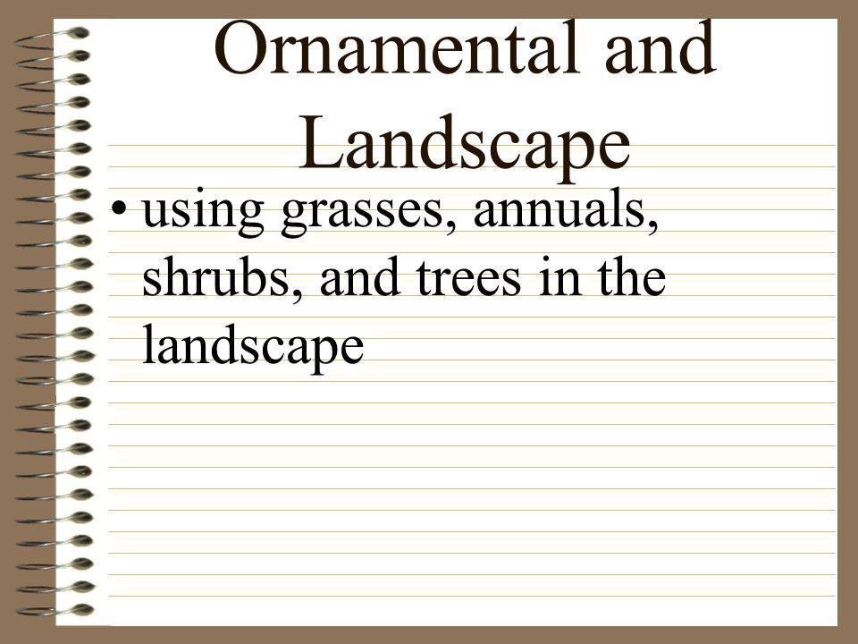 Ornamental and Landscape