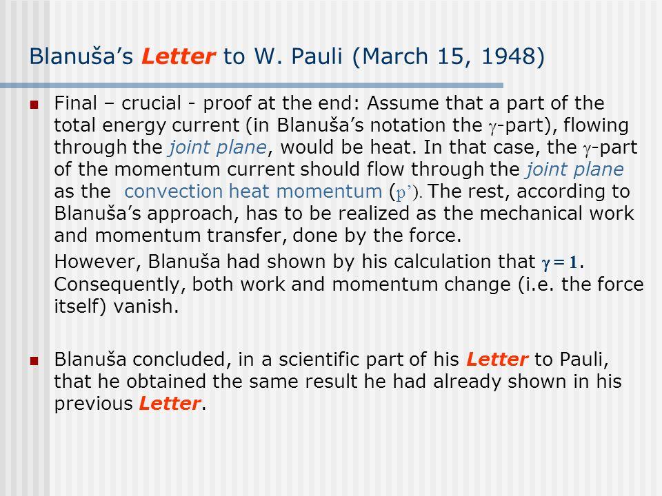 Blanuša's Letter to W. Pauli (March 15, 1948)