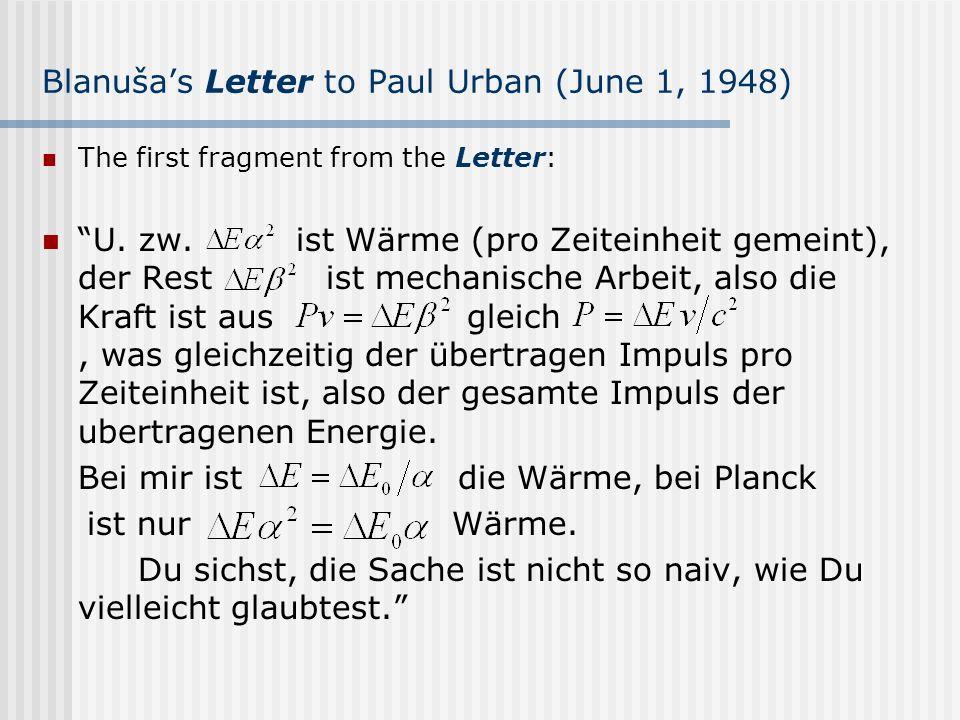 Blanuša's Letter to Paul Urban (June 1, 1948)
