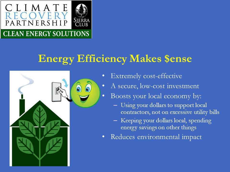 Energy Efficiency Makes $ense
