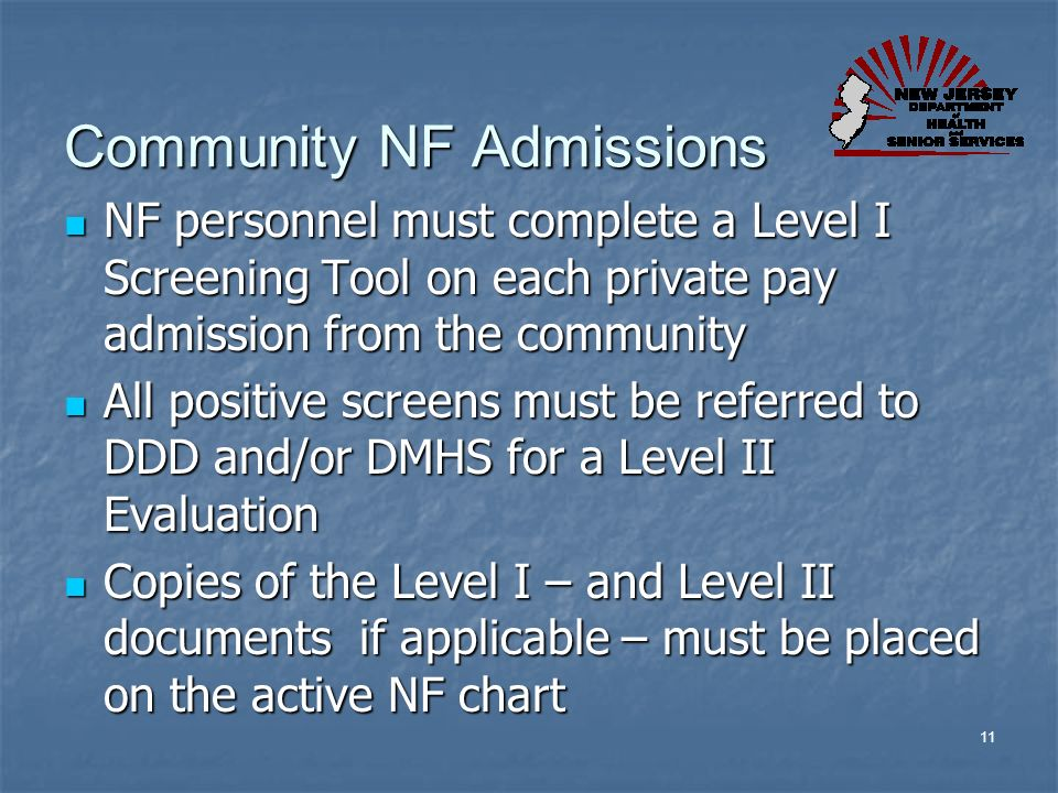 Community NF Admissions