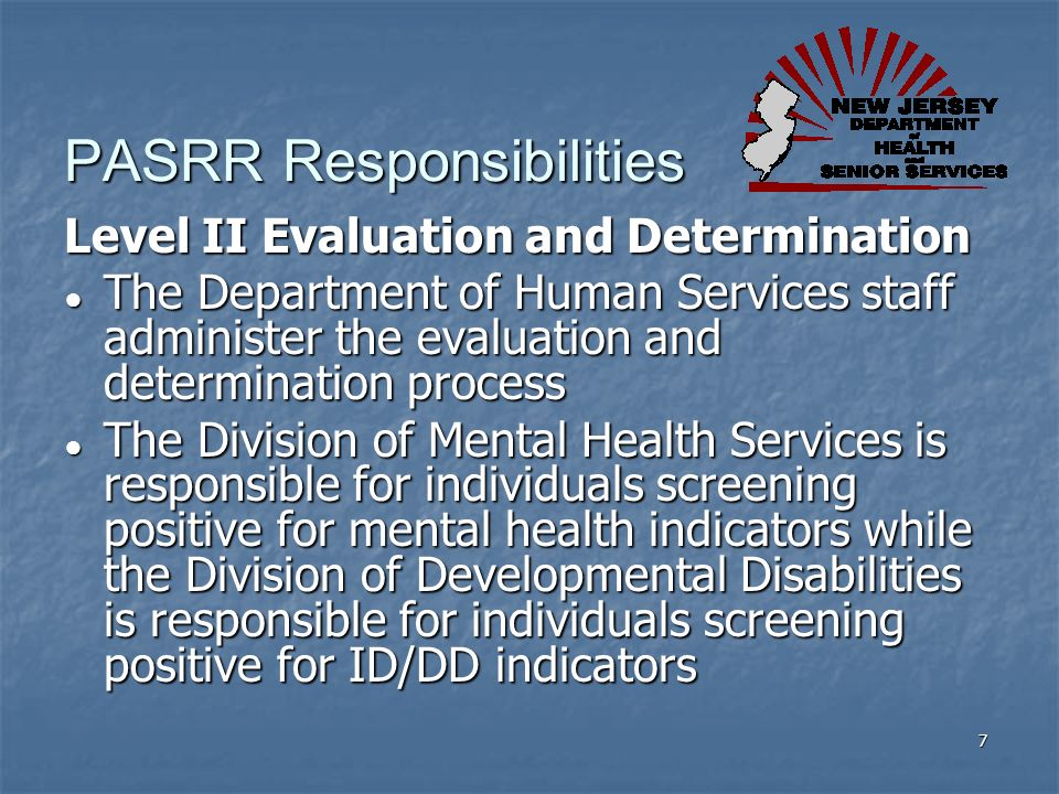 PASRR Responsibilities
