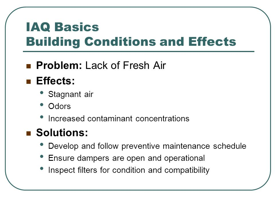 IAQ Basics Building Conditions and Effects