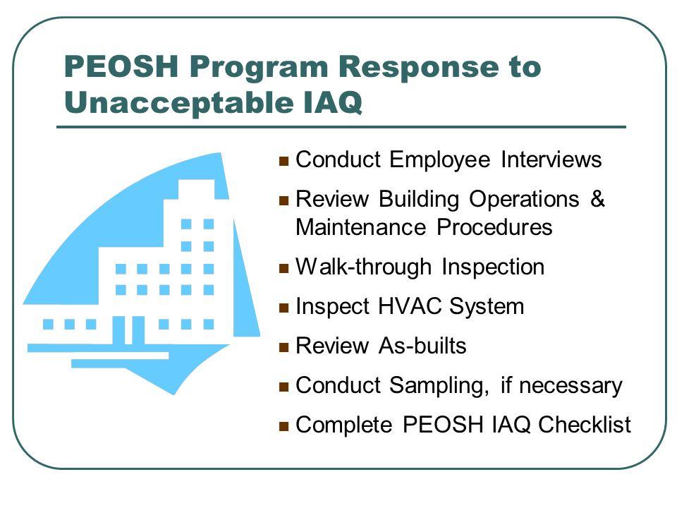 PEOSH Program Response to Unacceptable IAQ