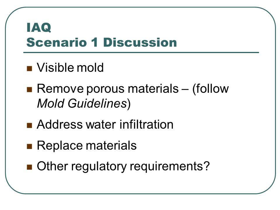 IAQ Scenario 1 Discussion
