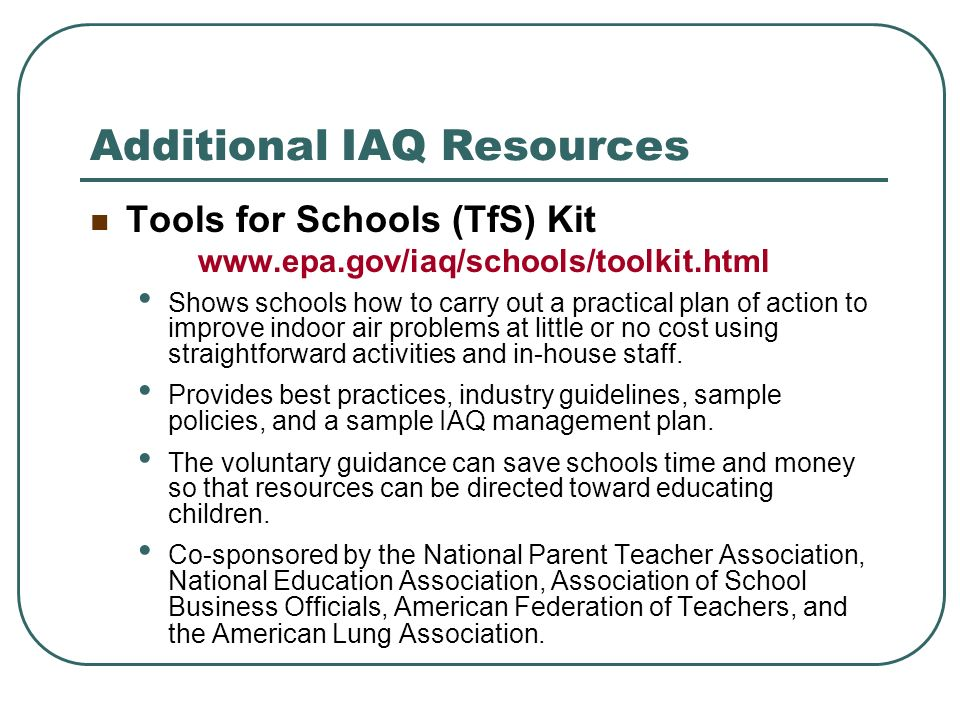 Additional IAQ Resources