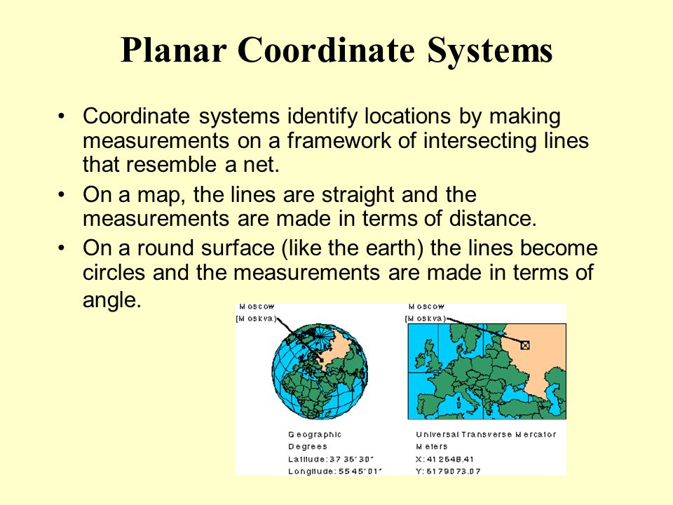 Planar Coordinate Systems