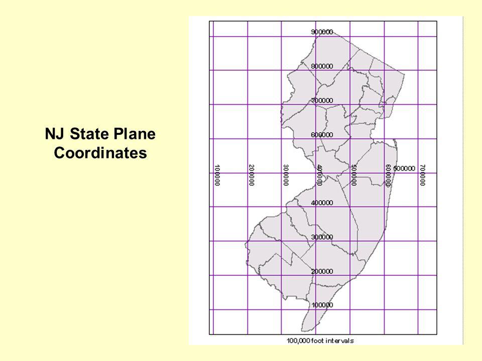 NJ State Plane Coordinates