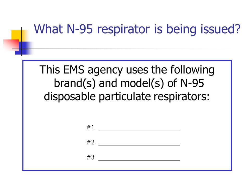 What N-95 respirator is being issued