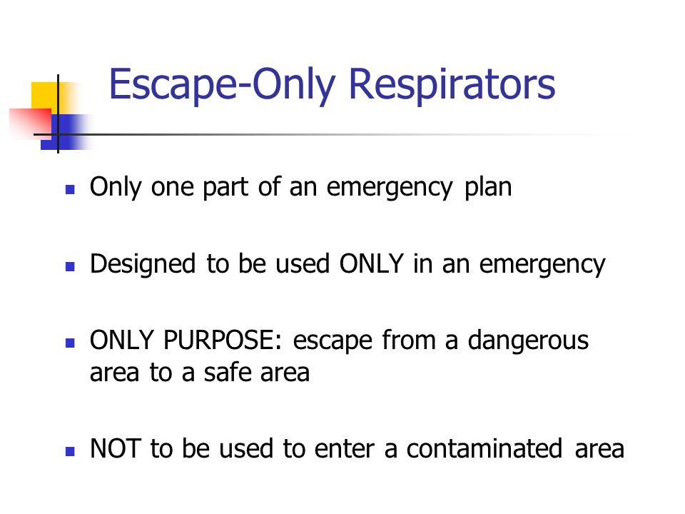 Escape-Only Respirators