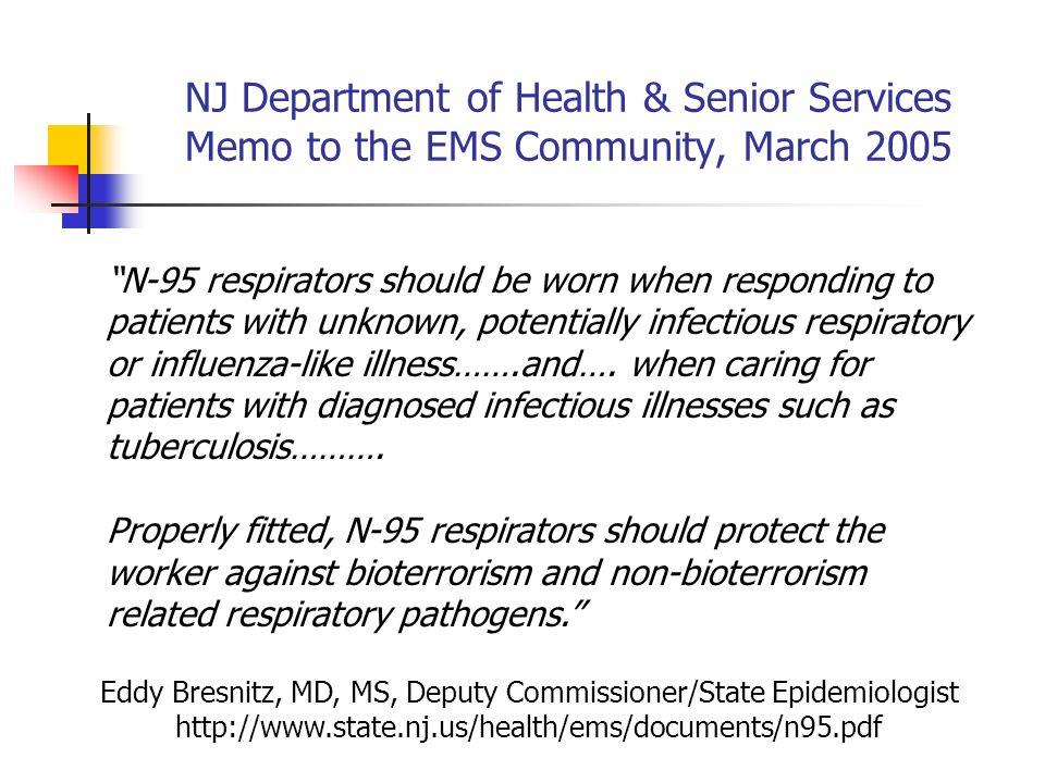 Eddy Bresnitz, MD, MS, Deputy Commissioner/State Epidemiologist